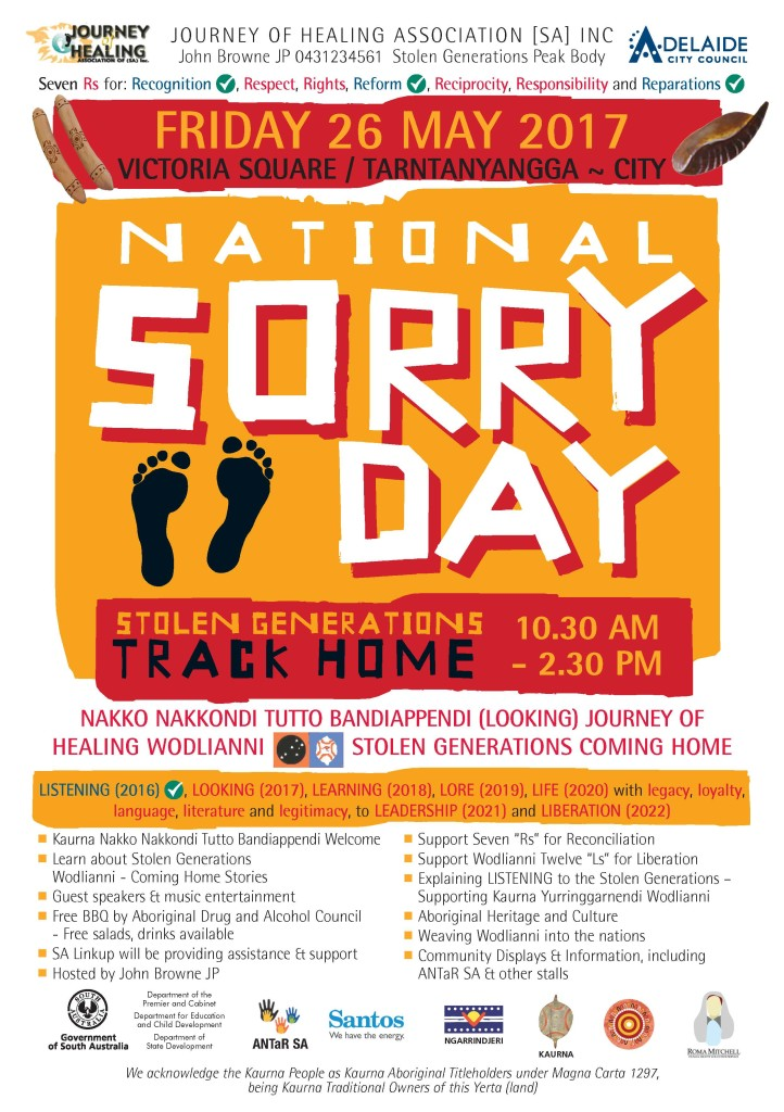 sorry day A4 poster 2017